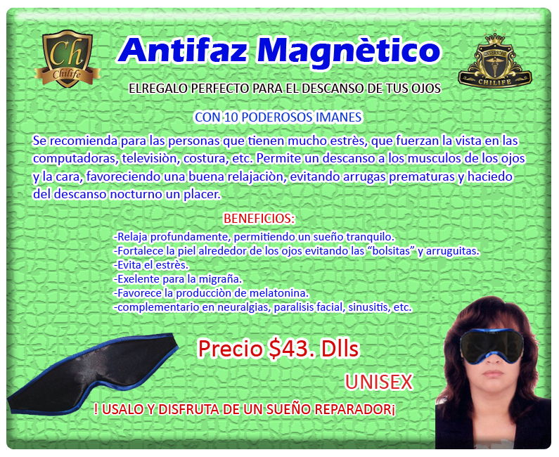 antifaz magnetico